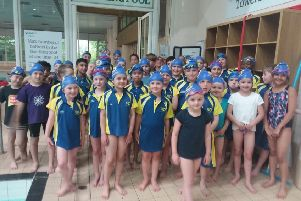 The City of Peterborough Swimming Club minis who took part in a closed event for children agaed nine and under.