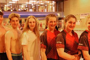 The East Midlands squad ' from left Tom Adams, Louis Metselaar, Bailie Harrison, Bethany Eagle-Brown, Jessie Spooner and Holly Leggott (missing Isabel Spinley and Tom Neal).