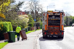Bins being collected in Peterborough