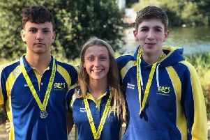 COPS medallists Henry Pearce, Kenzie Whyatt and Matthew Rothwell.