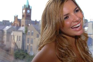 Nadine Coyle pictured in her home city of Derry