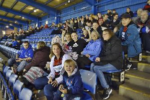 Peterborough Panthers fanst at last Saturday's meeting.
