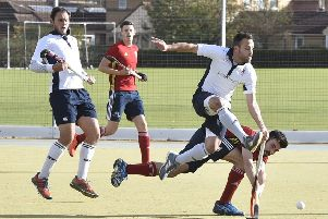 Action from City of Peterborough's National League win over Brighton. Photo: David Lowndes.