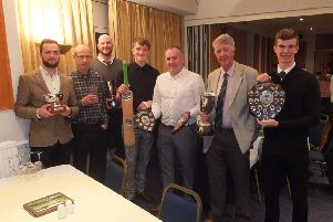Some of the Castor CC award winners. From the left are Reece Smith, John Jarvis, Ryan Evans, Alfie Armstrong, Andy Johnson, Norman Gray and Cameron Dockerill.