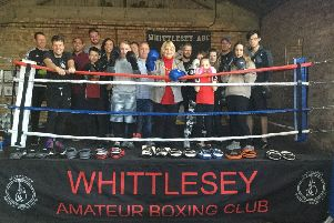Whittlesey mayor Julie Windle with Whittlesey Amateur Boxing Club members. Picture: RWT Photography