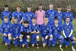 ICA Under 18s are pictured before their 3-2 win over Oundle. From the left they are, back, Finlay Richmond, Charlie Jenkins, James Ware, Matthew Wilshire, Sam Bloodworth, Ben Denton, Taylor Breagan, front, Tom Baxter, Ciaran Millen, Isaac Myrie, Liam Nightingale, Jack Banham, Tyler Munns and Brooklyn Gray.