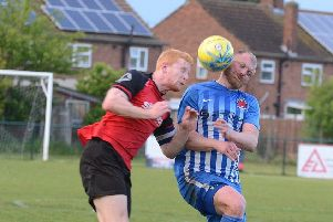 Herbie Panting (left) in action for Netherton.
