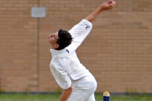 Pat Brown in action for Market Deeping CC.