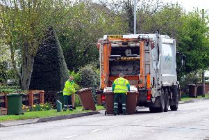 Brown bins being collected in Werrington EMN-140904-085451001