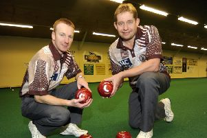 Nicky Brett (left) and Greg  Harlow lost in a thrilling final.