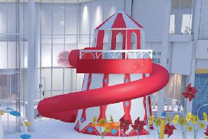 Bognor helter skelter water ride. Picture contributed