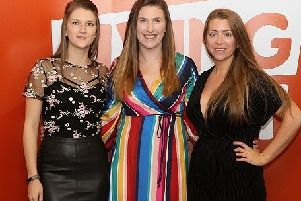 Members of iGO4�s Health and Wellbeing team at the Living Sport awards, from left, Tori Bradshaw, Financial Accountant, Katie Bedford, Project Manager, and Robyn Penniall, Business Analyst