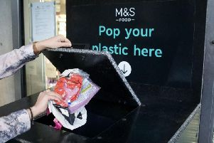 The M&S plastics recycling point at its Peterborough store.