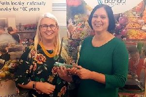 Rebecca Lees, Harborough District Councils economic development manager and Sairah Butt, Harborough Market manager with the award