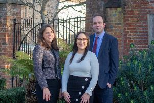 Edward Cooke Family Law. Solicitor Michelle Lewis, office manager Daisy Hofgartner and director Edward Cooke