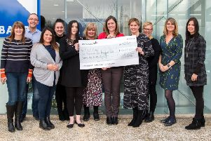 Peterborough Rape Crisis Care Group were given a cheque for more than �6,000 from staff at Bauer Media