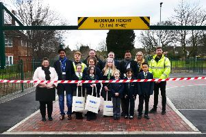 The opening of the new car park
