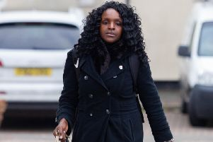 Fiona Onasanya pictured in Peterborough following her conviction. Photo: Terry Harris