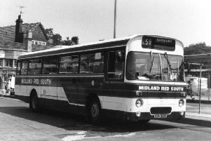 An X59  parked in the bus station awaits passengers in 1986. Photo courtesy of Jonathon Coles. NNL-190130-171017001