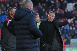 Posh boss Darren Ferguson during the Doncaster defeat. Photo: Joe Dent/theposh.com.