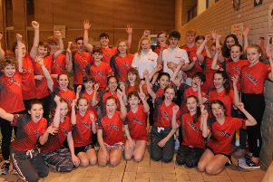 The Deepings Swimming Club squad celebrating at the County Championships. Picture: Chris Lowndes