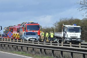 An accident on the A1 near Wittering