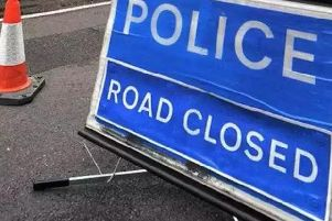 The road was closed following the crash