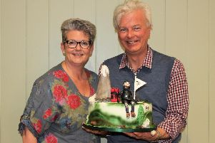 University of Buckingham student Nigel Gibson (right) with founder of Lisa Adams Cakes Lisa Adams