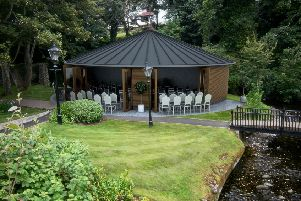 The new wedding pavilion.