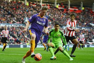 Oscar Ustari during the FA Cup Fourth Round match between Sunderland and Kidderminster Harriers at the Stadium of Light on January 25, 2014 (Photo by Michael Regan/Getty Images)