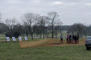 Archery at the Norfolk Fortnite Live as seen from the queue (Photo: SWNS)