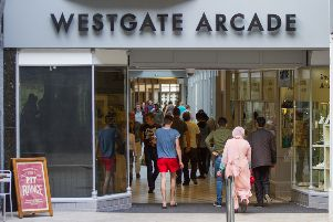 Westgate Arcade in Queensgate Shopping Centre