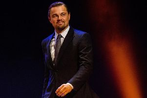 US actor Leonardo DiCaprio 'regrammed' a tweet about the climate march in Brighton (Photograph: ROBIN UTRECHT/AFP/Getty Images)