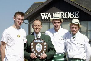 Keith Toop (second from left) and his winning Corporate Challenge team at Waitrose in 2003