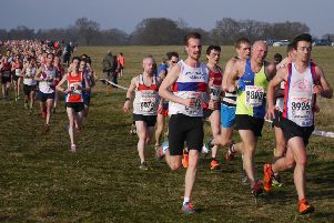 Luke Myers running for Nene Valley Harriers at the National Championships. Pictures: Andrea Page