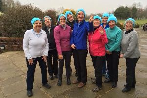 Chichester ladies wear hats to support the lady captain's charity
