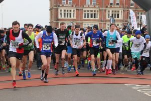 Runners set off at the start of the 2018 Hastings Half Marathon. Picture courtesy Roberts Photographic