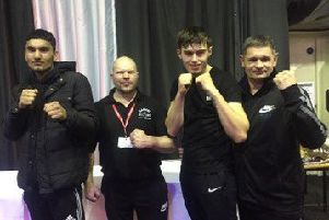 Peterborough Police ABC coaches and boxers pictured fom the left are Imran Aref, Mark Dane, Brian Lawless and Paul Goode.