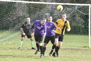 Action from the cup game between Stanground Sports and Glinton and Northborough.