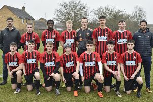 Pictured is the Yaxley FC Under 18 team beaten 3-1 by Gunthorpe Harriers Navy  in the League Cup. Their team was  Daniel Conway, Jake Cooper, Jack Driscoll, William Gore, Logan Gregory, Aidan Mulhern, Rory Nicholson, Oliver Oakley, Brandon Orchard, Matthew Robson,  Jack Szalajko,   Alex Dean and   Olamide Karim.
