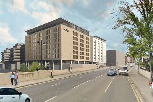 An artist's impression of the planned new apartments and hotel