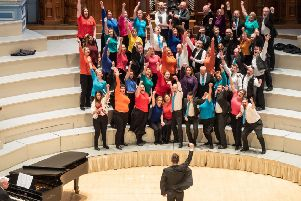 The choirs at the festival