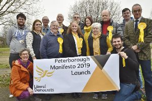 The launch of the Liberal Democrats' campaign for the local elections at Paston Community Centre. EMN-190203-173836009