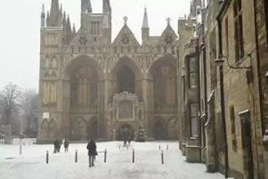Snow is forecast for Peterborough