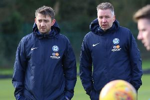 Darren Ferguson (right) and Gavin Strachan.