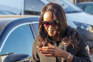MP Fiona Onsanya arrives home after leaving Prison.  Picture by Terry Harris. THA