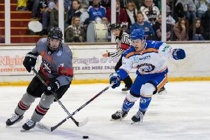 Corey McEwen in action against Basingstoke. Picture: Tom Scott