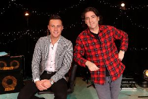 Brian Kennedy with Nathan Carter. Brian is one of the guests performing on Nathan Carters St Patricks Day Party, BBC Radio Ulster this Friday (March 15) at 8pm