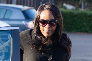 Fiona Onasanya arriving at her house in Peterborough after leaving prison. Photo: Terry Harris
