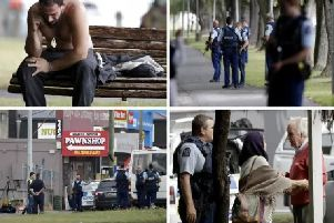 Images from Christchurch following the terror attack. Pic: Getty